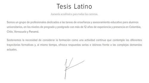 tesis latino
