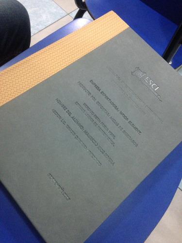 tesis revisión, impresión y empastado de tesis