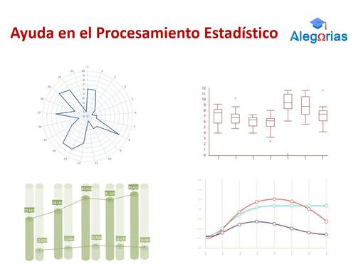 tesis, tesinas, procesamiento estadístico | alegorías ayuda