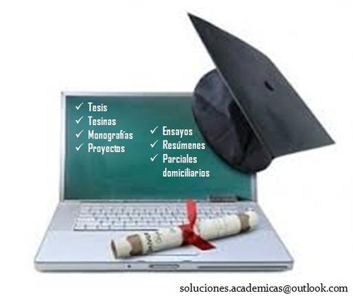 tesis, tesinas y todo tipo de trabajos académicos