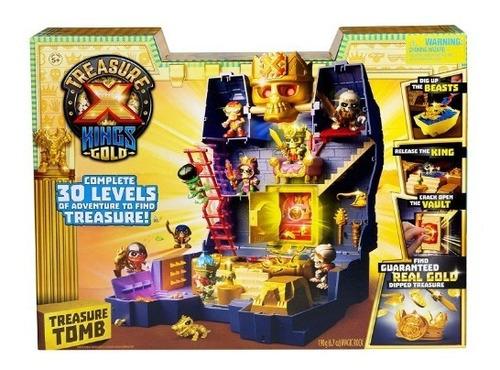 tesoro x tumba del tesoro de oro del rey con figuras