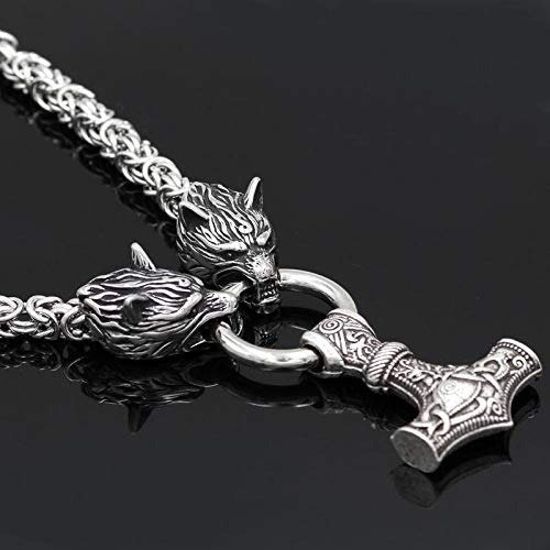 tesoros antiguos vikingos cabeza un lobo odin acero inoxida