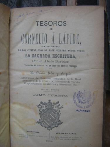tesoros de cornelio a lapide abate barbier tomo cuarto 1882