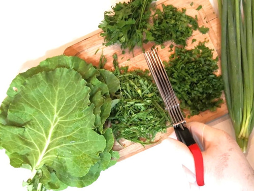 tesoura 5 lâminas - corta legume tempero