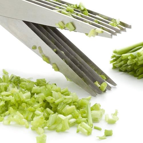 tesoura 5 lâminas - corta legume tempero picotadora de papel