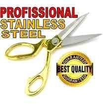 tesoura alfaiate profissional dourada costura tecido 25cm