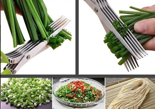 tesoura culinária cozinha ervas tempero cheiro verde verdura