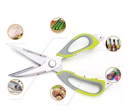 tesoura culinária multi-funções 6 em 1 prana