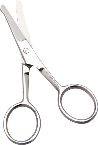 tesoura para pelos de nariz e bigode com ponta arredondada corte preciso e cabo de fácil manuseio barbearia marco boni