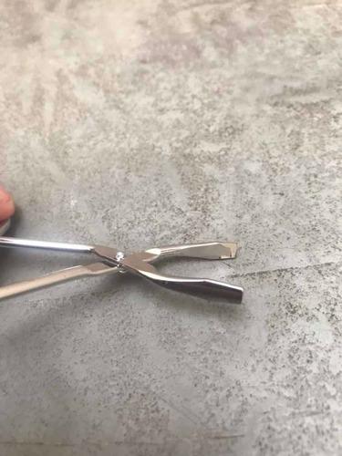 tesoura pinça ponta reta sobrancelha cílios