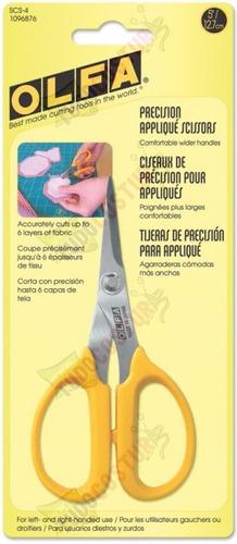 tesoura precisão lâmina inox patchwork scrapbook olfa scs-4