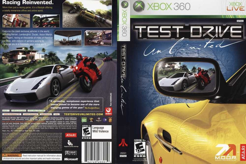 test drive: unlimited - usado - xbox 360