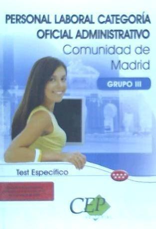 test específico personal laboral de la comunidad de madrid.