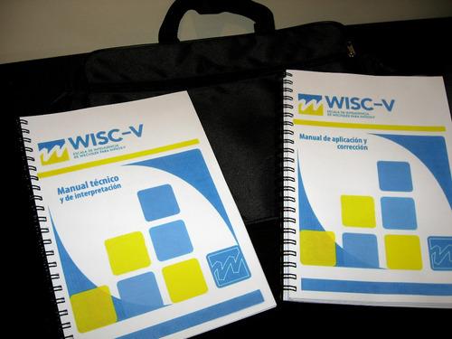 test wisc v - bolso de traslado - cubos plasticos!!!!