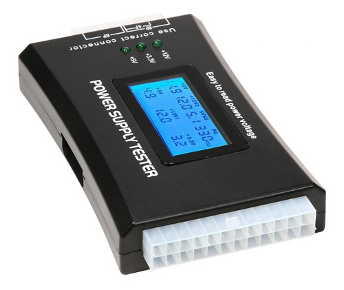 testador de fonte lcd atx btx itx hd sata power supply teste
