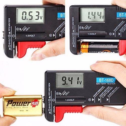testador teste digital  pilhas baterias 1,5v 1,2v 3v 9v -bx