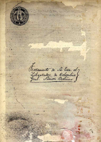 testamento antiguo de simon bolivar