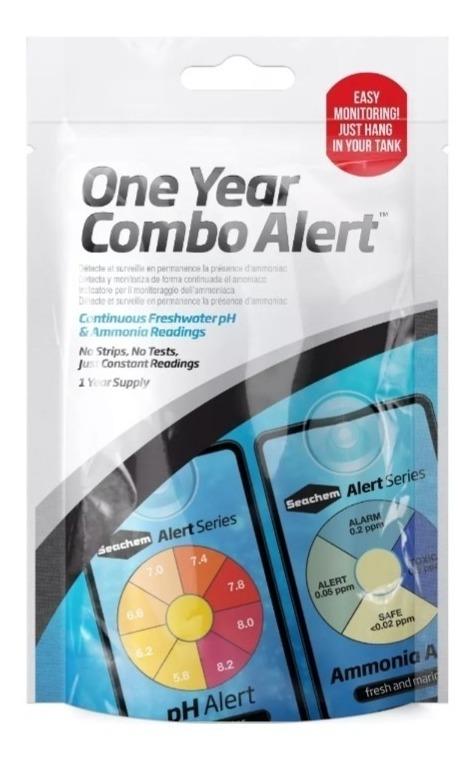 Seachem alert combo (amonia + ph) medidor permanente aquário.