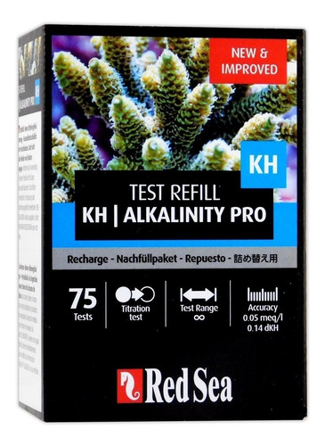 teste red sea alcalinidade kh pro rcp - refil