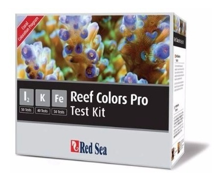 teste red sea rcp kit reef colors pro (i2/k/fe)