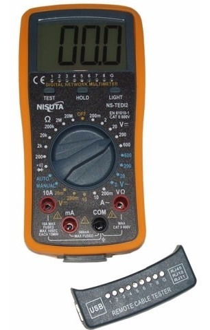 tester de red y multimetro todo en uno nisuta ns-tedi2