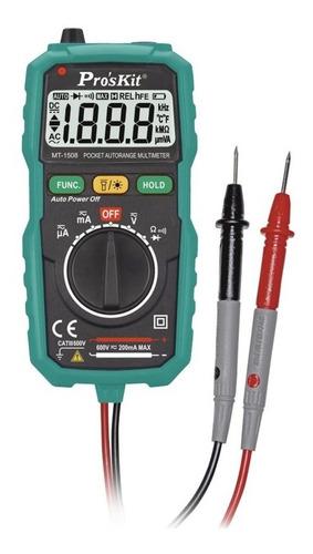 tester digital autorango proskit detector voltaje mt-1508