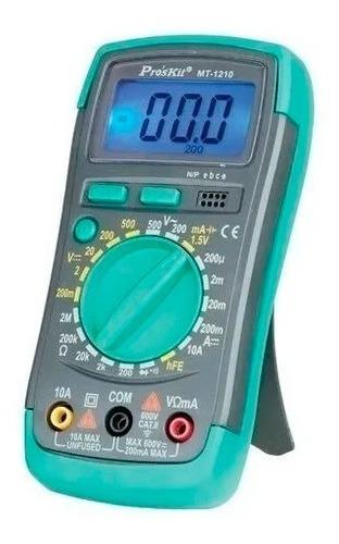 tester digital mt-1210 proskit c/ luz de fondo profesional