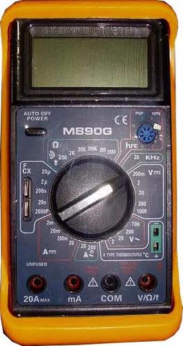 tester digital multímetro capacimetro amperimetro voltimetro