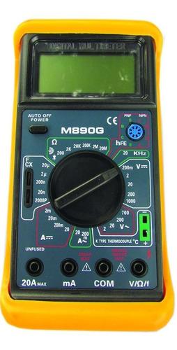tester digital multímetro capacimetro ampr volt dancis