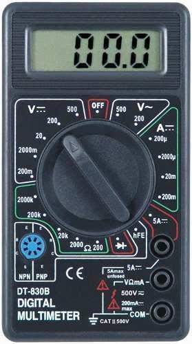 tester digital multimetro portatil dt-830b