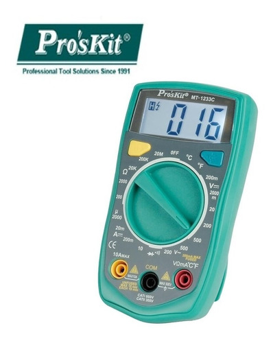 tester digital proskit temperatura buzzer luz hold mt-1233c