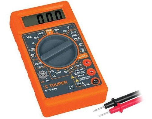 tester digital truper mut-830 multimetro corriente ca dc mf