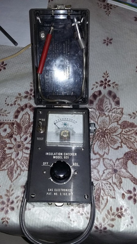tester insulation checker model 601 gas electronic