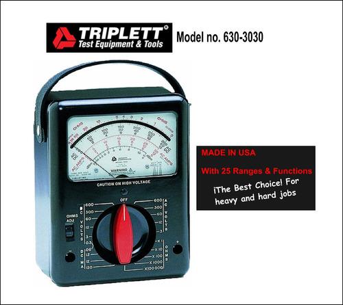 tester multimetro análogo profesional  triplett  (simpson).