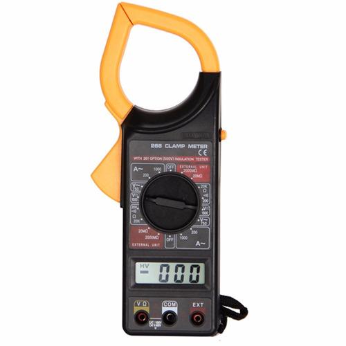 tester multimetro digital  amperimetrica pinza  dt266