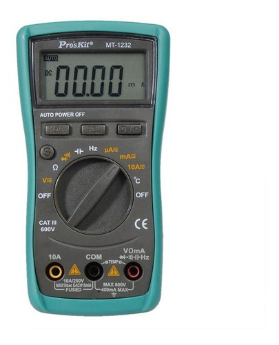 tester multimetro digital autorango proskit temp cap mt-1232