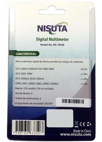 tester multimetro digital portatil mini nisuta ns-tedie