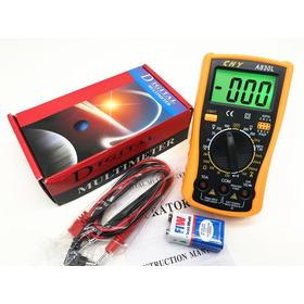 Tester Multimetro Digital Probador C/ Sonido Estuche Bateria
