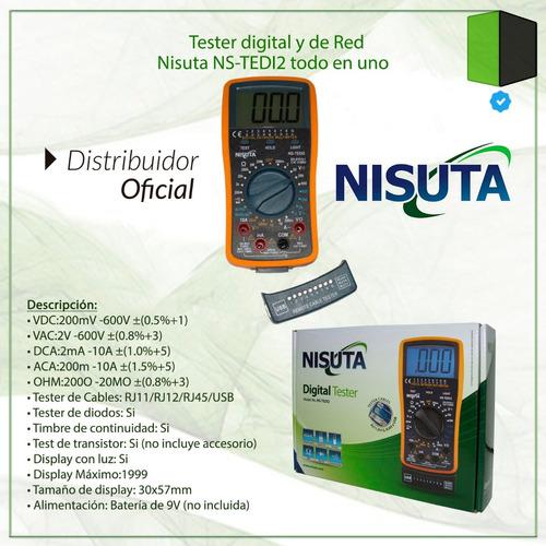 tester multimetro digital profesional redes luz nisuta tedi2