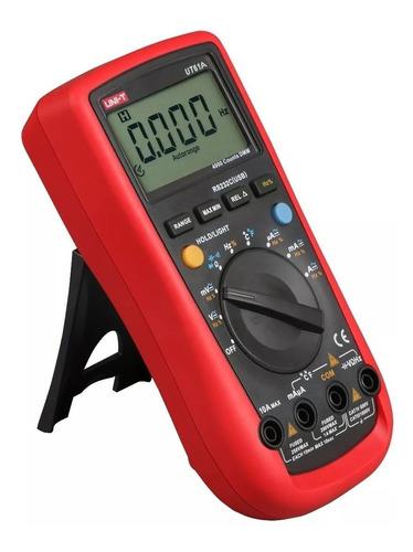 tester multímetro digital unit ut61a detector voltaje hfe