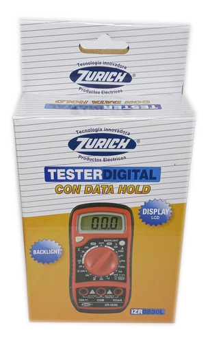 tester multimetro digital zurich izr0830l buzzer holder