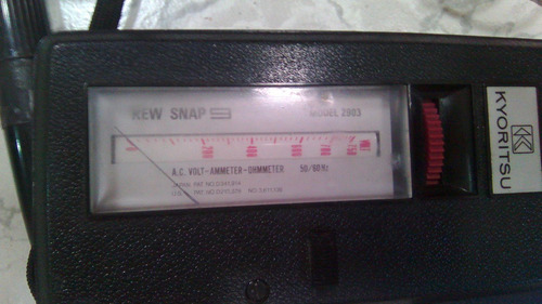 tester multímetro kyoritsu kew snap modelo 2903 50/60hz