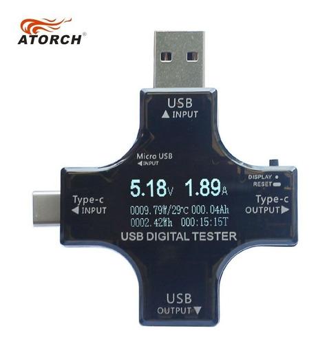 tester multimetro voltaje corriente usb carga rapida qc3