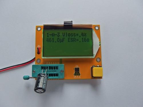 tester multitester de componentes electronicos, plaqueta