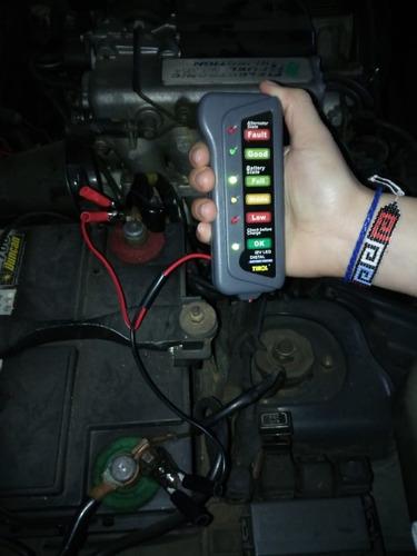 tester probador batería alternador 12v vehículos y motos