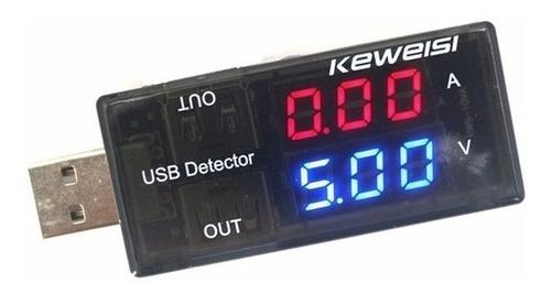 tester usb - medidor de voltaje y amperaje dc