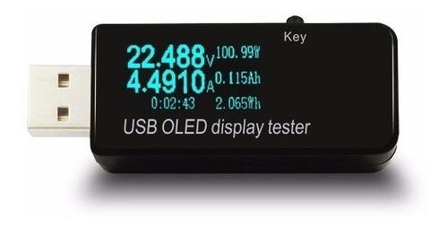 tester voltimetro amperimetro usb analizador de carga oled