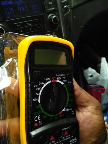 tester voltimetro multímetro digital