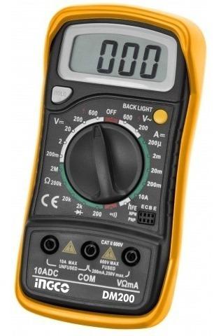 tester voltimetro multimetro digital ingco dm200