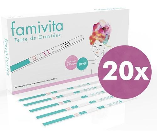 testes de gravidez famivita 20 unidades - pronta entrega